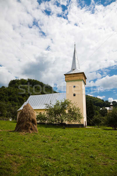 Medieval church in Corna Village Stock photo © igabriela