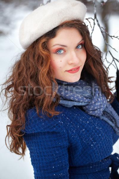 Portrait belle jeune femme extérieur 20 année Photo stock © igabriela