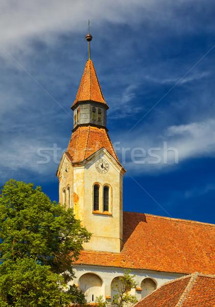 Bunesti Fortified Church Belfry Stock photo © igabriela