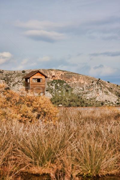 Observação de aves torre grego água paisagem cenário Foto stock © igabriela
