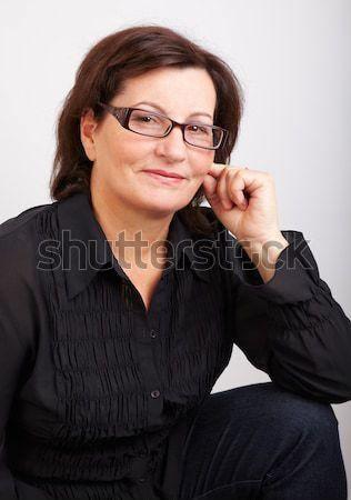 Middle aged woman portrait Stock photo © igabriela