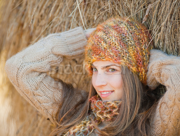 Young woman portrait in autumn Stock photo © igabriela