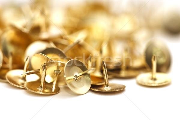 Izolált arany fehér rajz biztonság közelkép Stock fotó © igabriela