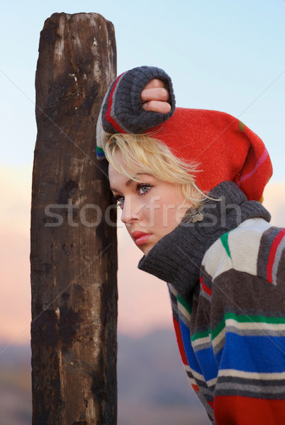 Sad young woman outdoor Stock photo © igabriela
