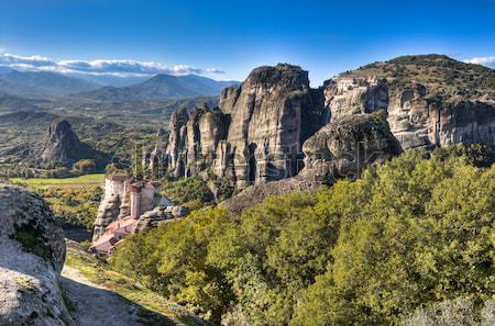 Rock formations at Meteora Stock photo © igabriela