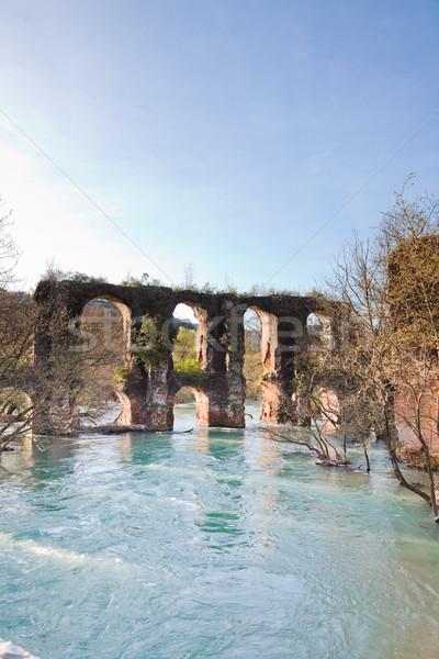 Roman Aqueduct in Epirus Stock photo © igabriela