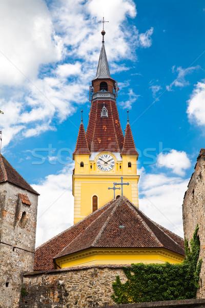 教会 村 壁 アーキテクチャ 歴史 塔 ストックフォト © igabriela