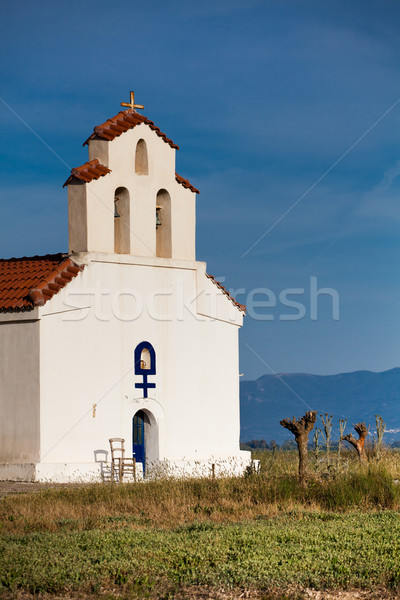 Chapel at Strophylia wetlands Stock photo © igabriela