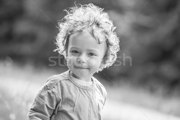 1 год ребенка мальчика портрет горные Сток-фото © igabriela