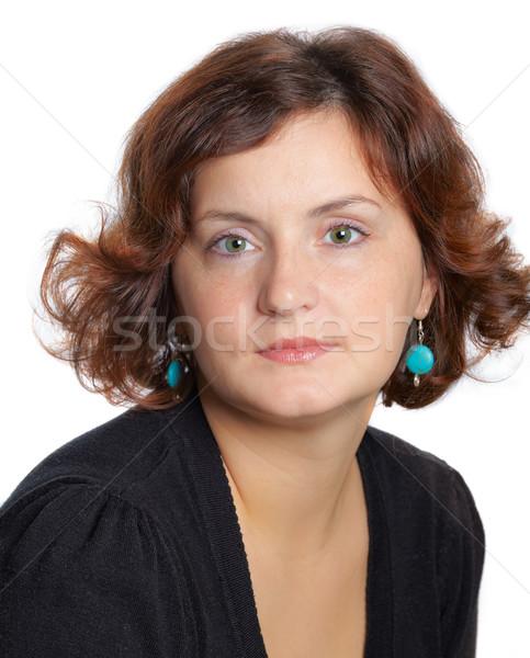 Portré 30 yo nő portré év öregasszony Stock fotó © igabriela