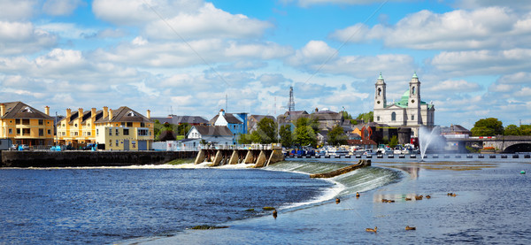 Athlone city and Shannon river Stock photo © igabriela