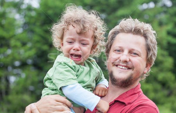 Kisgyerek apuci portré 1 éves baba fiú Stock fotó © igabriela