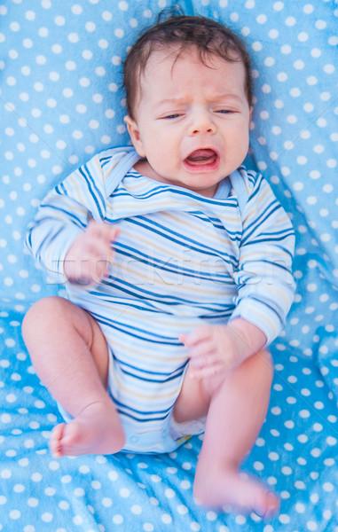 Hónapok öreg baba fiú otthon portré Stock fotó © igabriela