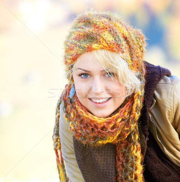 счастливым портрет молодые блондинка Открытый Сток-фото © igabriela