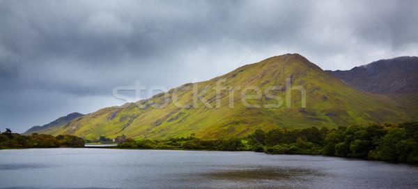 Diamon Hill and Kylemore lake Stock photo © igabriela