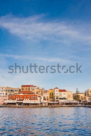 Haven Griekenland oude venetiaanse zonsondergang 2010 Stockfoto © igabriela