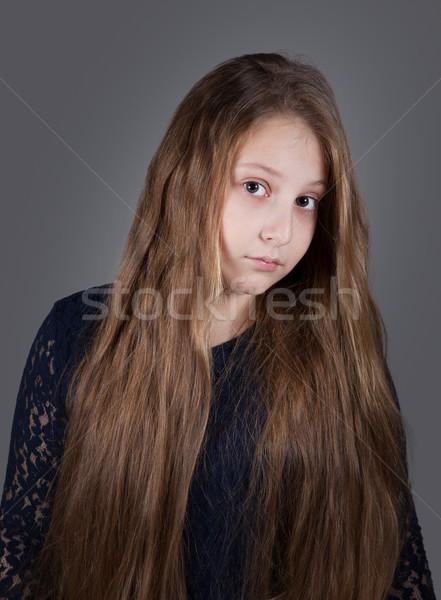 10 anni ragazza ritratto occhi faccia Foto d'archivio © igabriela