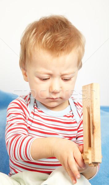 Zaklatott baba fiú stúdió portré szomorú Stock fotó © igabriela