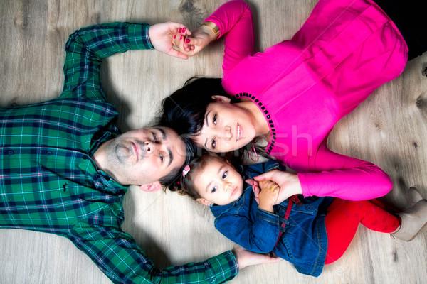 семьи студию родителей 18 месяцев старые Сток-фото © igabriela