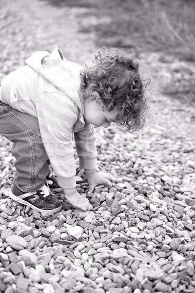 赤ちゃん 少年 屋外 徒歩 ストックフォト © igabriela