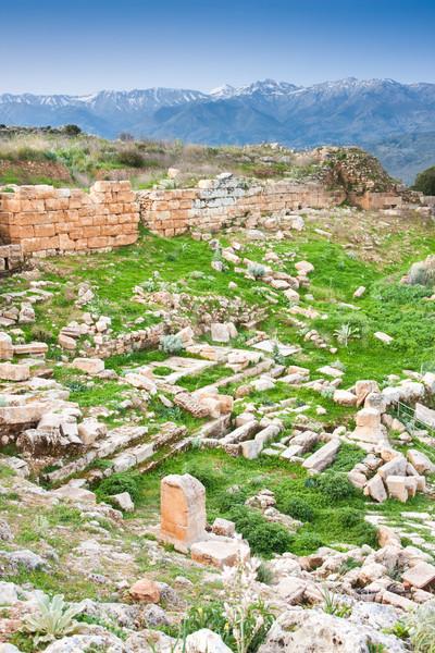 Antigo ruínas edifício parede montanhas pedra Foto stock © igabriela