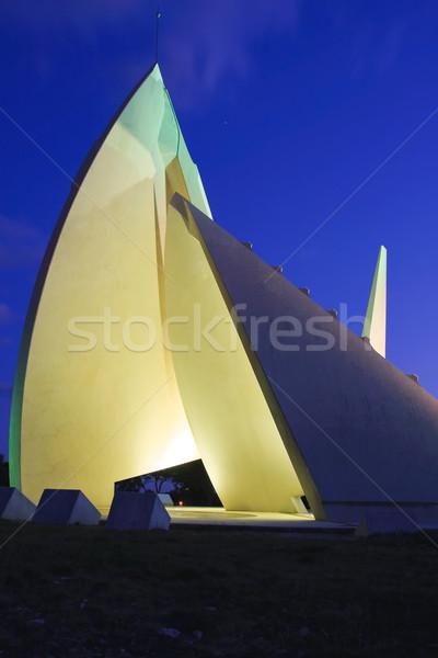 Gigant zegar słoneczny wieczór Francja zegar noc Zdjęcia stock © igabriela
