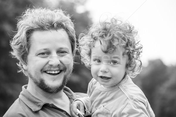 папа портрет 1 год ребенка мальчика Сток-фото © igabriela