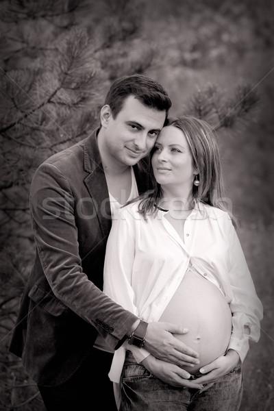 Pregnant woman and husband Stock photo © igabriela