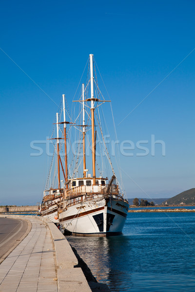 Ships at Lefkada Stock photo © igabriela