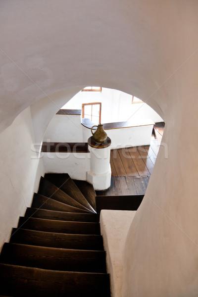 Korpa kastély belső terv építészet történelem Stock fotó © igabriela