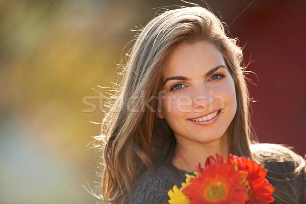 цветы портрет красные цветы Сток-фото © igabriela