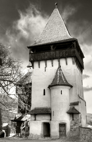 Biertan fortified church tower Stock photo © igabriela