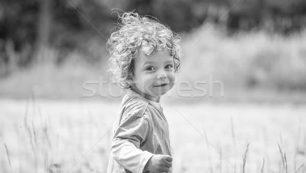 Bebé nino retrato montana Foto stock © igabriela
