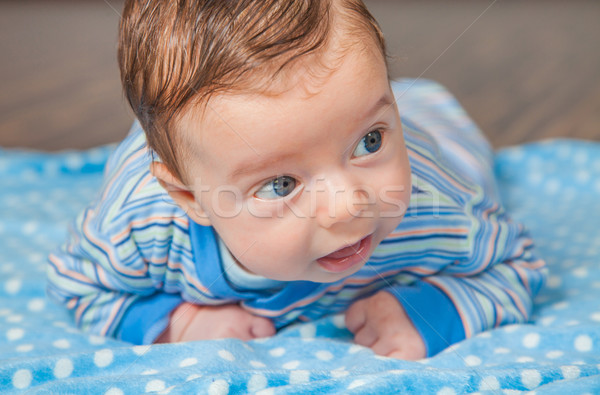 Bebé nino casa retrato meses edad Foto stock © igabriela