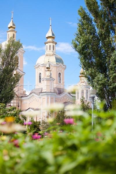 Церкви лет время город Румыния деревья Сток-фото © igabriela