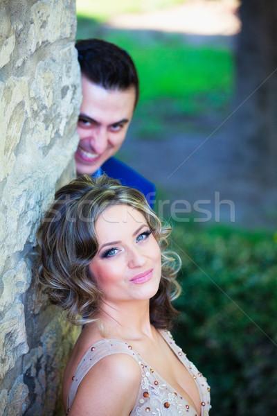 жених лицах свадьба портрет фото Сток-фото © igabriela