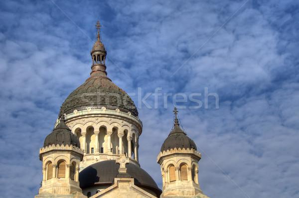 Ortodoxo catedral ciudad Rumania iglesia cielo azul Foto stock © igabriela