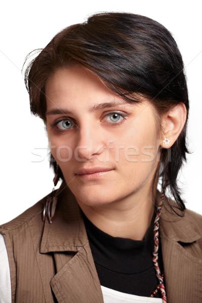 若い女性 肖像 小さな 反乱 女性 白 ストックフォト © igabriela