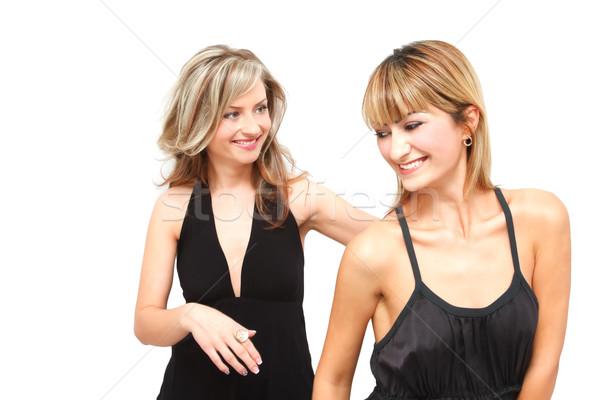 счастливым женщины портрет два друзей изолированный Сток-фото © igabriela