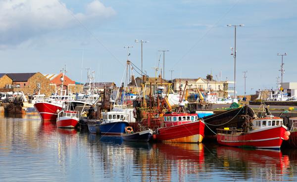 Porto pesca barche porto estate Dublino Foto d'archivio © igabriela