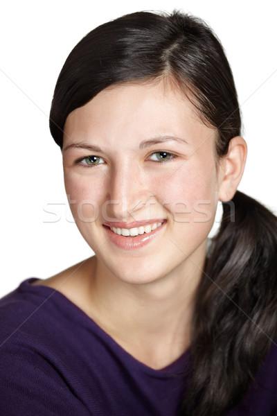 Adolescente portrait belle isolé blanche fille Photo stock © igabriela