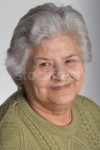 старуху портрет красивой бабушки улыбаясь камеры Сток-фото © igabriela
