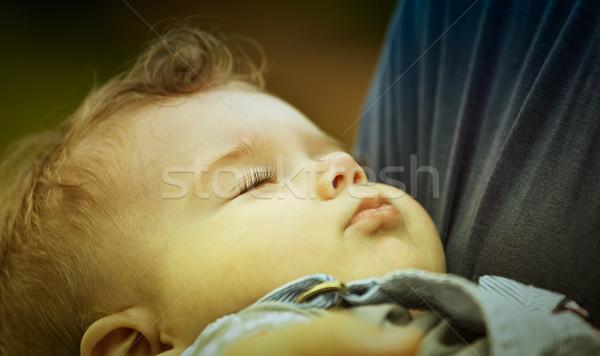 Stock photo: Baby boy sleeping peacefully