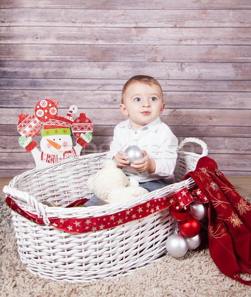 Baby boy Christmas portrait Stock photo © igabriela