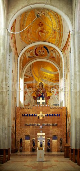 Interior griego catedral altar ciudad Rumania Foto stock © igabriela