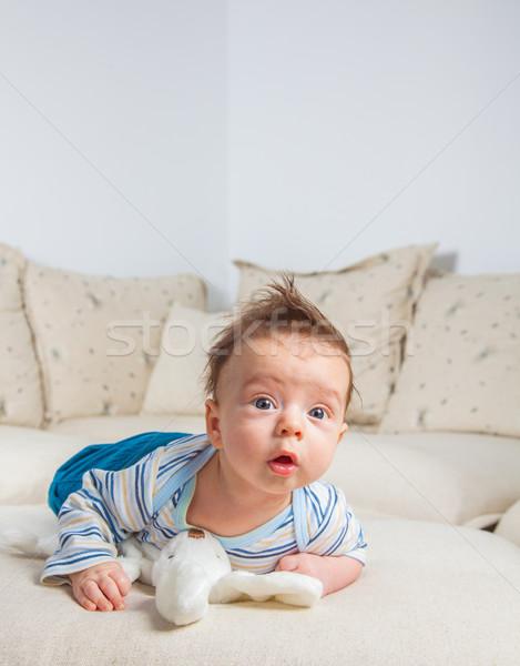 ヶ月 古い 赤ちゃん 少年 ホーム かわいい ストックフォト © igabriela