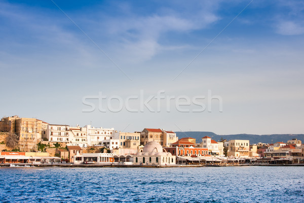 Velencei kikötő város víz tavasz kék Stock fotó © igabriela
