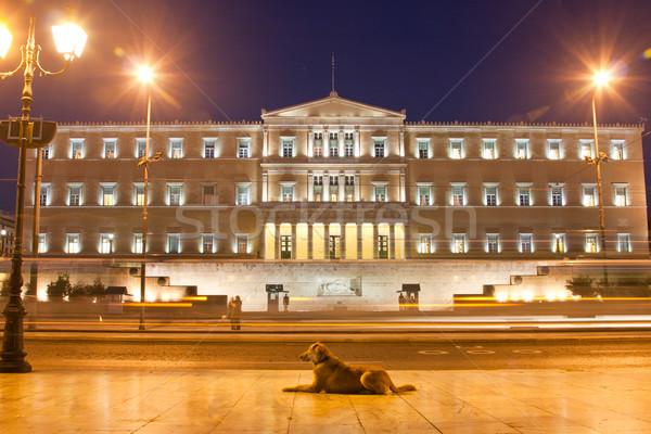 Parlamento Atenas edifício noite Grécia cidade Foto stock © igabriela