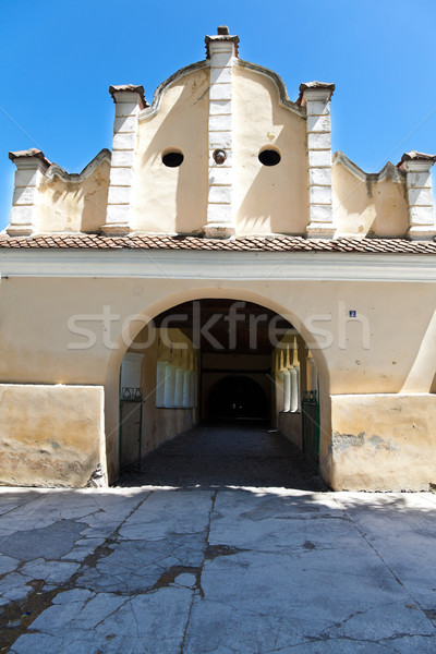 Entrance at Prejmer Fortified Church Stock photo © igabriela