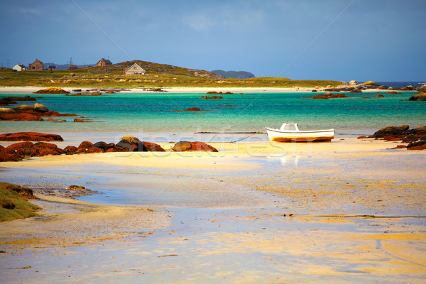 Quai faible marée été paysage mer Photo stock © igabriela